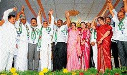 'Janata darshan' at JD(S) convention