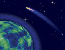 Bright comet streaks very close to earth