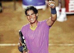 Nadal back with a bang