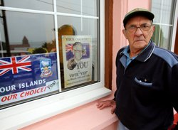 Falkland Islands vote in referendum with eye on world