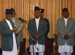 Nepal's chief justice takes oath as executive head