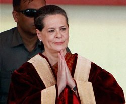Sonia Gandhi completes 15 years as Congress chief