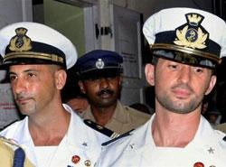 Fishermen killing case: Two marines on way to India