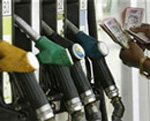 Diesel price hiked by  45 paise
