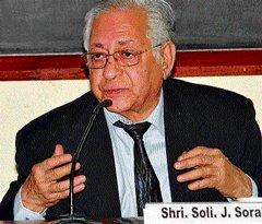 Sorabjee frets over growing intolerance