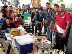 Showcasing their culinary skills