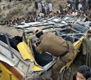 Eight school kids killed in Kashmir bus accident