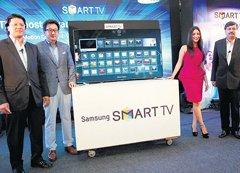 Samsung eyes larger pie in flat TVs