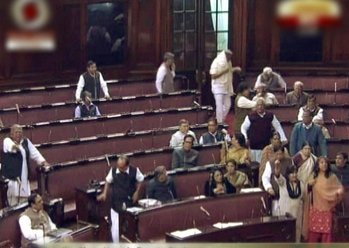 RS adjourned till noon after BJP, SP uproar