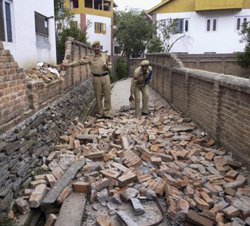 Two dead, dozens hurt in J&K quake
