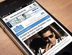 Deccan Herald is  mobile now (beta launch - please help us test it)