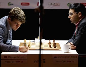 Anand plays out a draw against Svidler