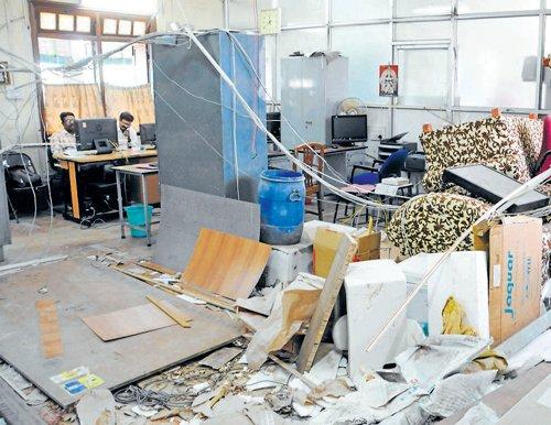 Renovation: CM secretary's office in shambles
