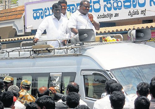 Stage set for a big fight at Periyapatna