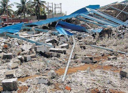 Rain claims life, damages properties