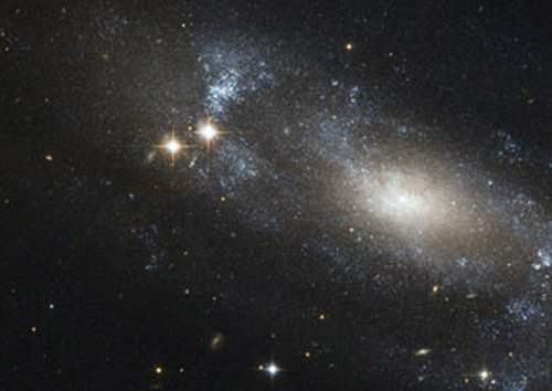Rare birth of mega-galaxy captured by space telescope