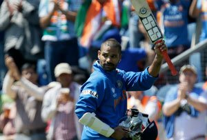 Dhawan slams maiden ton as India start campaign with win