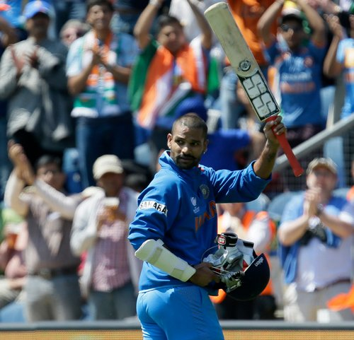 Dhawan lets his bat do the talking