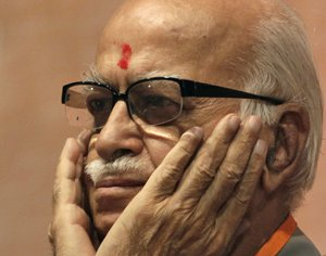 Advani vanishes from BJP posters in UP