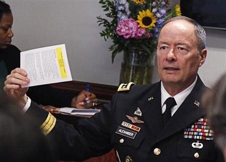 Internet spying foiled terrorist plot: NSA chief