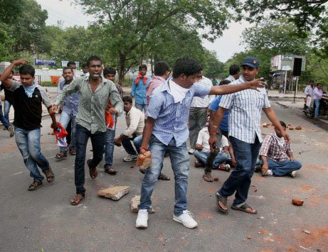 Hyderabad tense over T protests
