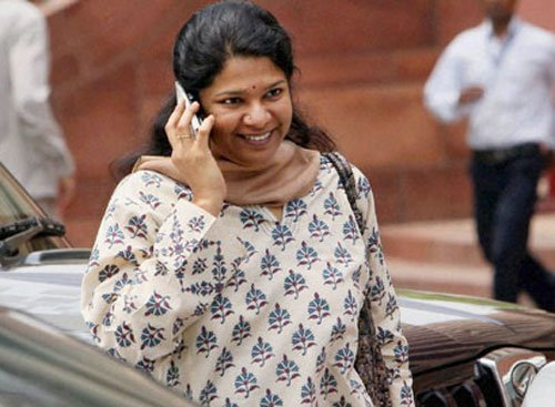 Kanimozhi files nomination for Rajya Sabha polls