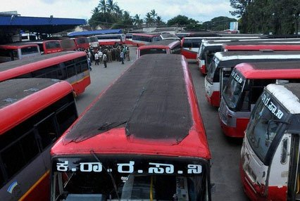BJP protests bus fare hike in Karnataka