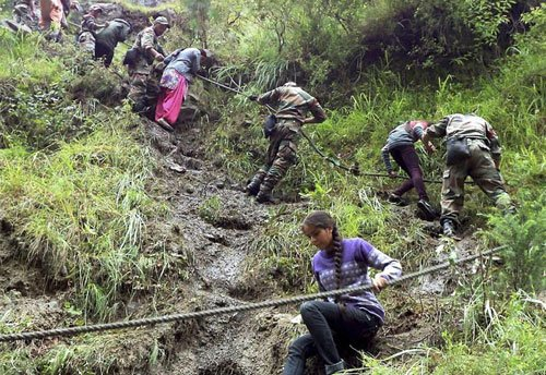 1,446 people rescued from flooded north India areas: NDRF