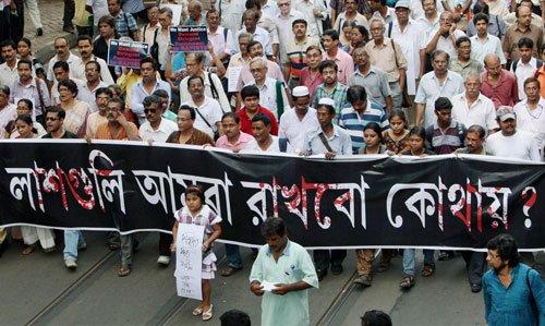 Thousands walk together as Kolkata protests rapes, atrocities