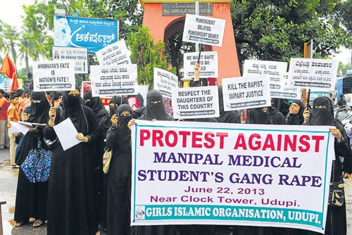 Three held in Manipal rape case
