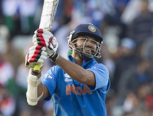 Dhawan named player of 2013 Champions Trophy