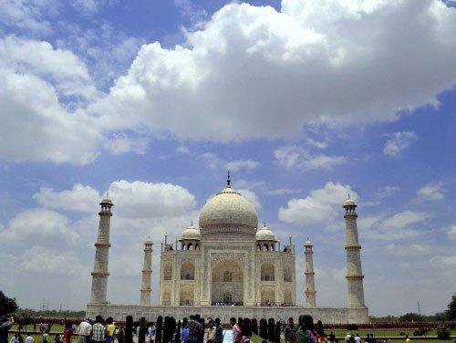 Taj sparkles after rain