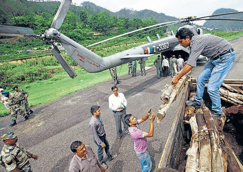 IAF rescue chopper crashes, 8 killed