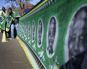 Mandela's alleged love child snubbed as SA prays for him