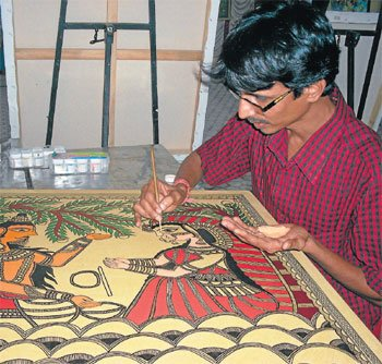 Look gorgeous in saris inspired by Madhubani paintings