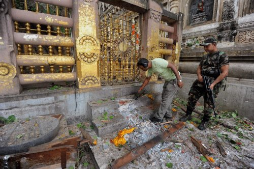 13 bombs were planted in Mahabodhi temple complex: Shinde