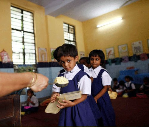 Children reluctant to have mid day meal in Bihar