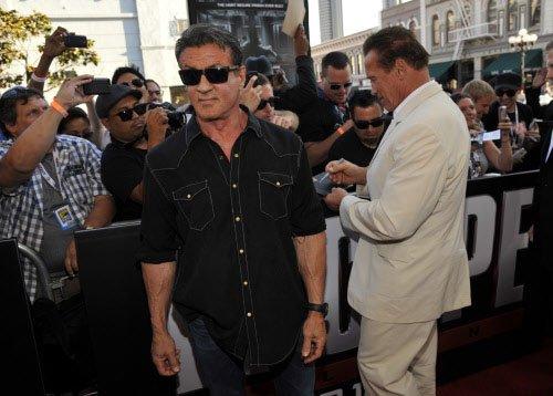 Stallone, Schwarzenegger not so serious off screen
