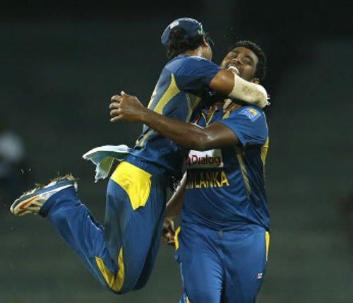 Sri Lanka win rain-curtailed game