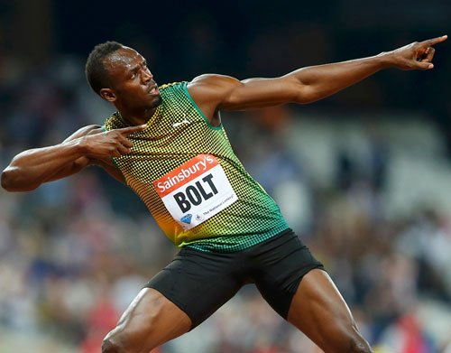 Bolt recovers from a slow start to win in London