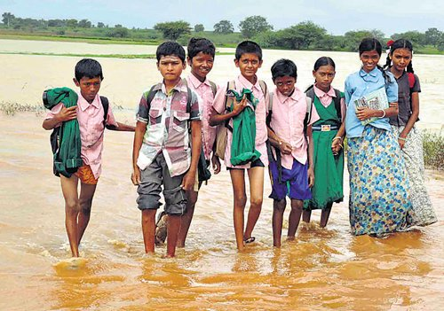 These students are forced to go on monsoon vacation
