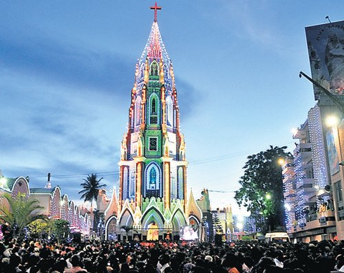 Flag-hoisting marks Day One of St Mary's feast