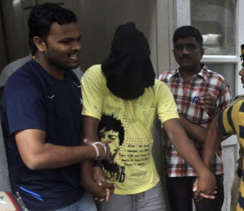 Gangrape: Eggs hurled at accused; confusion on 'minor' suspect