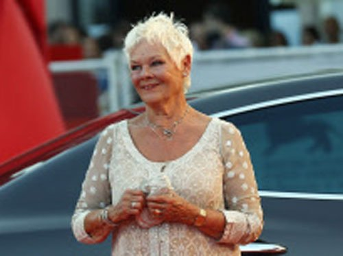 Judi Dench wears Indian creation at Venice fest