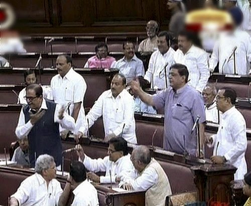 RS adjourned twice after uproar