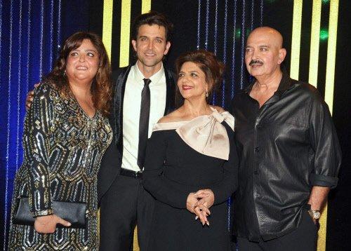 Big B, Rekha attend Rakesh Roshan's birthday bash