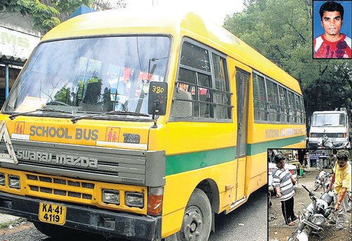 Student's head severed as bus rams his bike