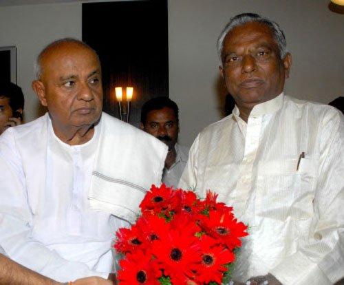 JD(S) chants unity mantra as Krishnappa takes charge