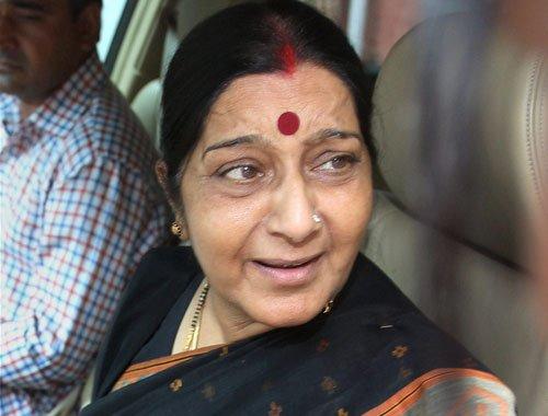 No one is upset: Sushma on Advani