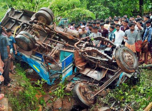 23 injured as bus overturns in Anantnag district of J-K